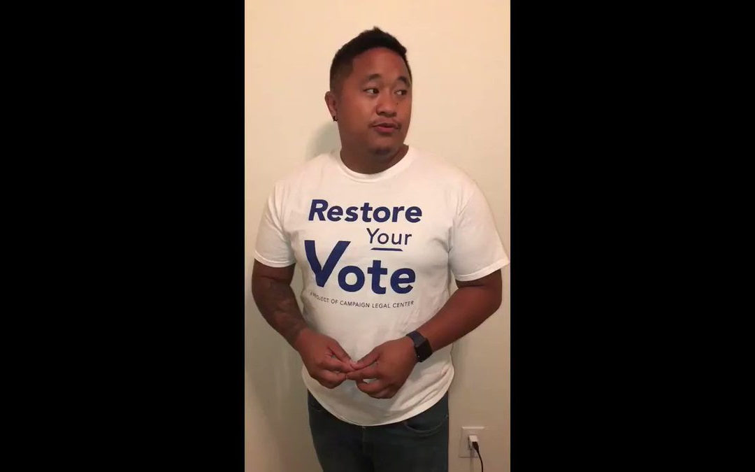 Help get the word out about voting rights for returning citizens: