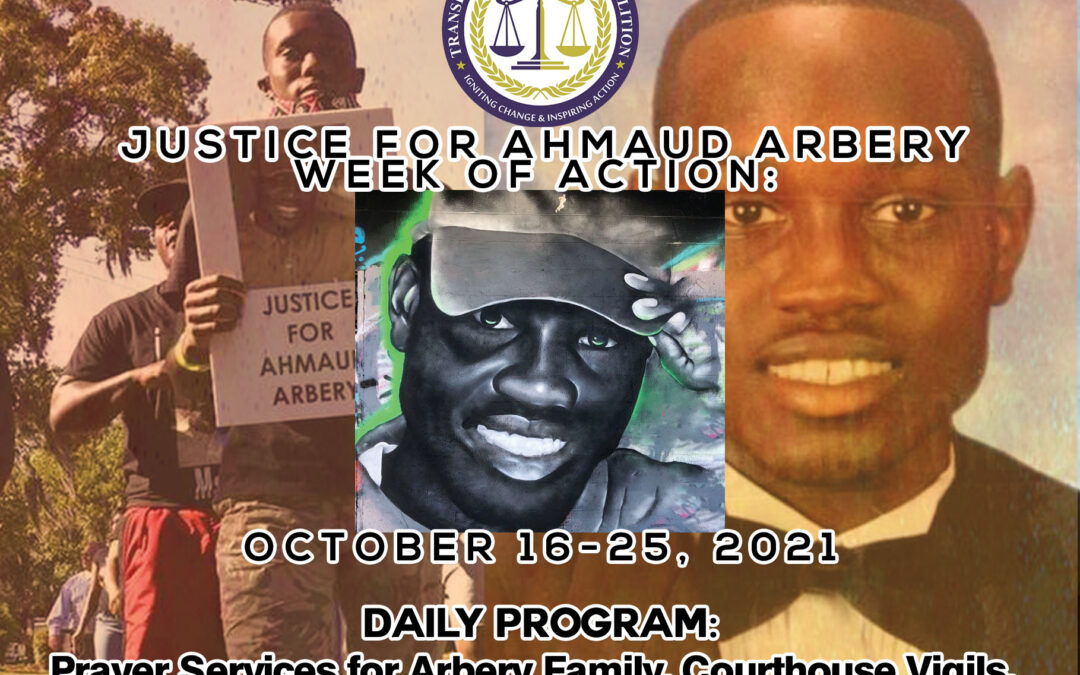 Remembering Ahmaud Arbery – Week of Action Oct 18, 2021 – Oct 25, 2021